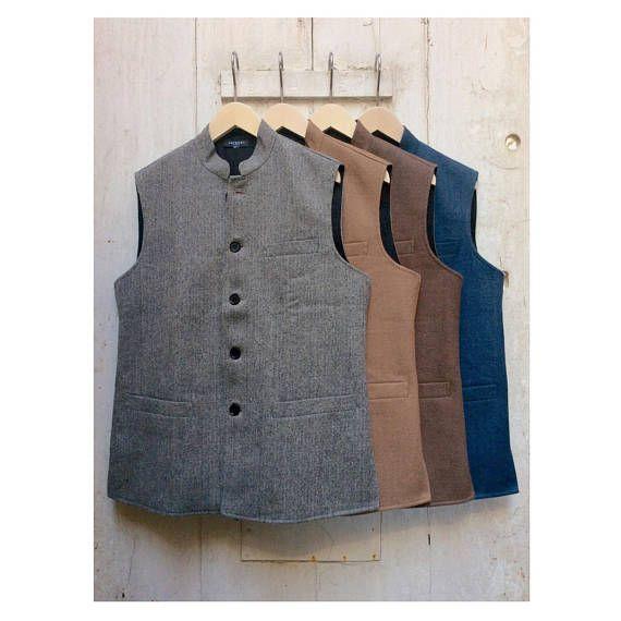 online store wholesale price newest Size 40 Men's & Womens Handwoven Woollen Waistcoat Gilet ...