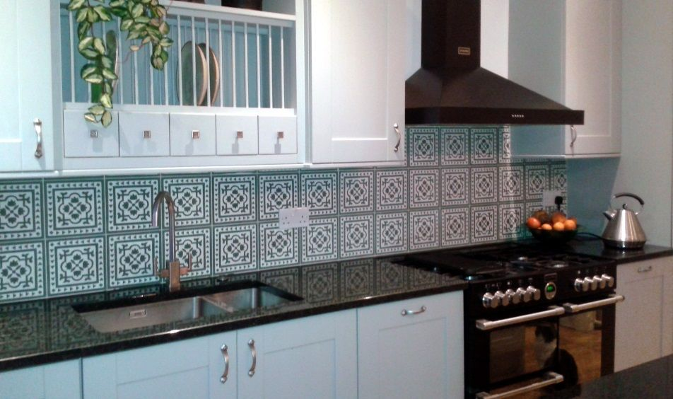 Moroccan Tiles On Kitchen Wall