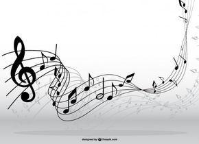 Notas Musicales En Movimiento Pentagramas Musicales Arte Partituras Notas Musicales