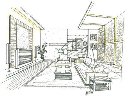 Interior Designer Sketches interior design rendering, sketch marker rendering, unknown