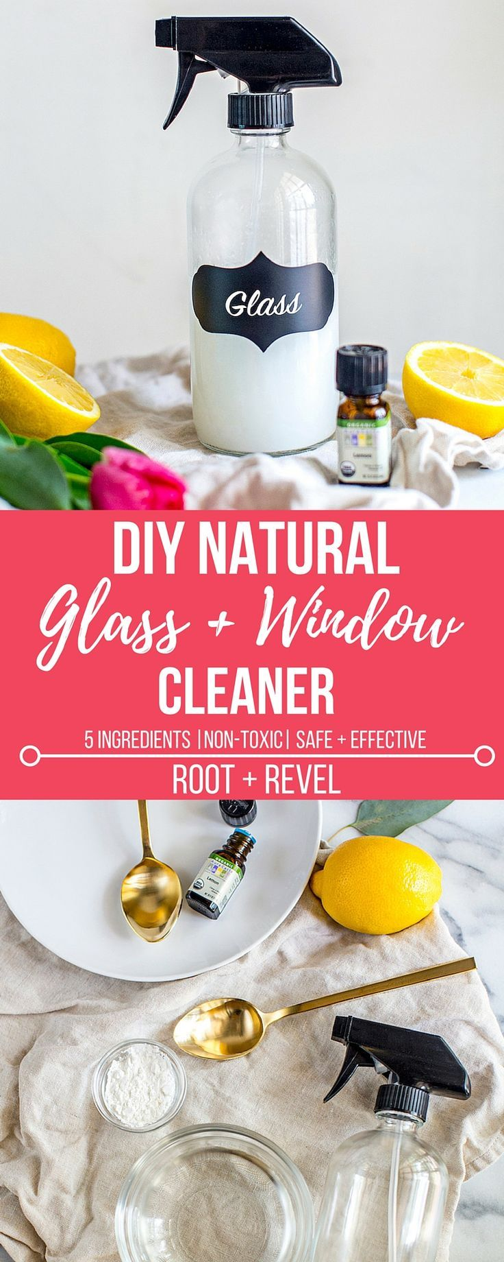 DIY Natural Glass and Window Cleaner Recipe Window