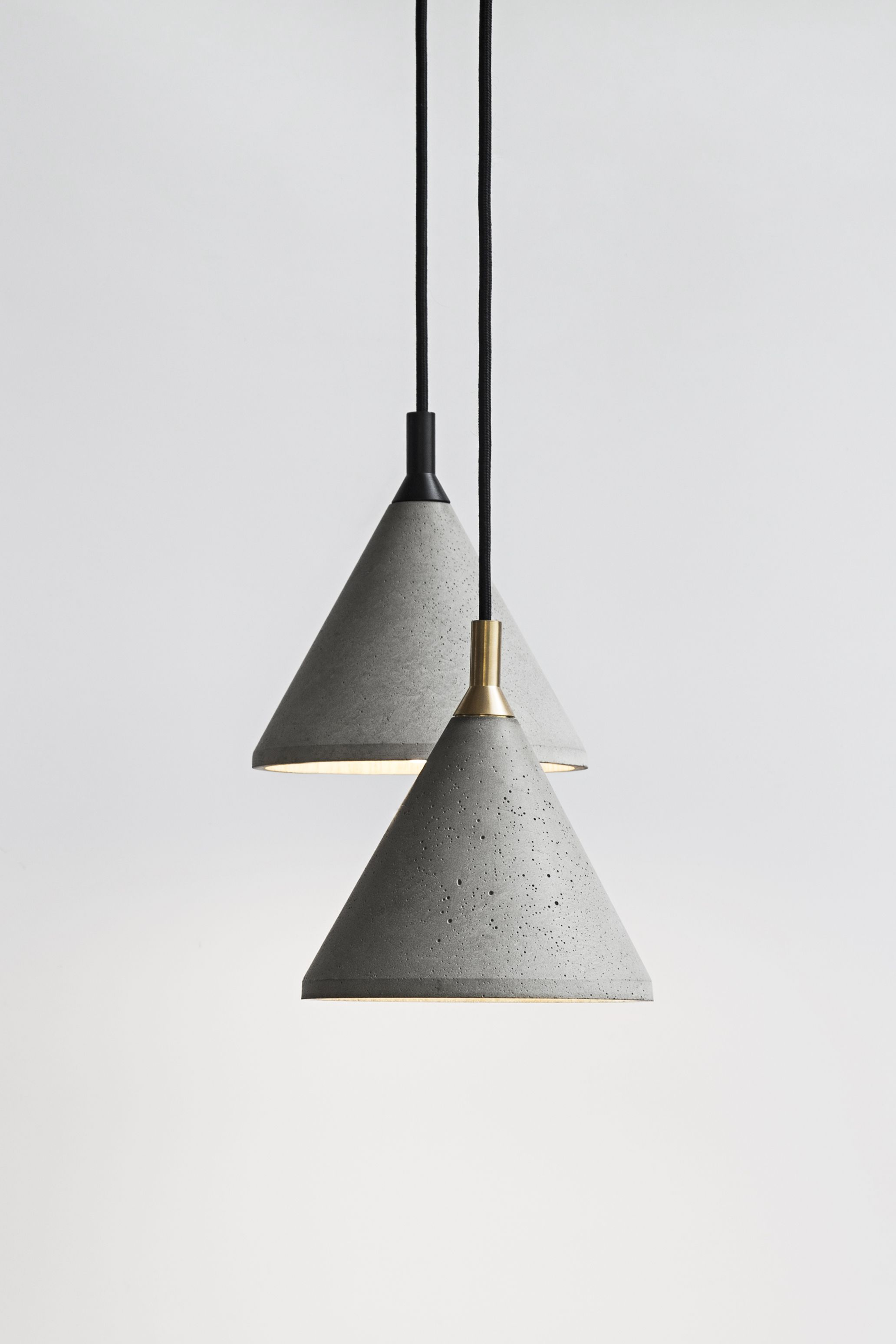 Pendant Lamp - ZHONG Material: Cement, Recycled Concrete, Metal ...
