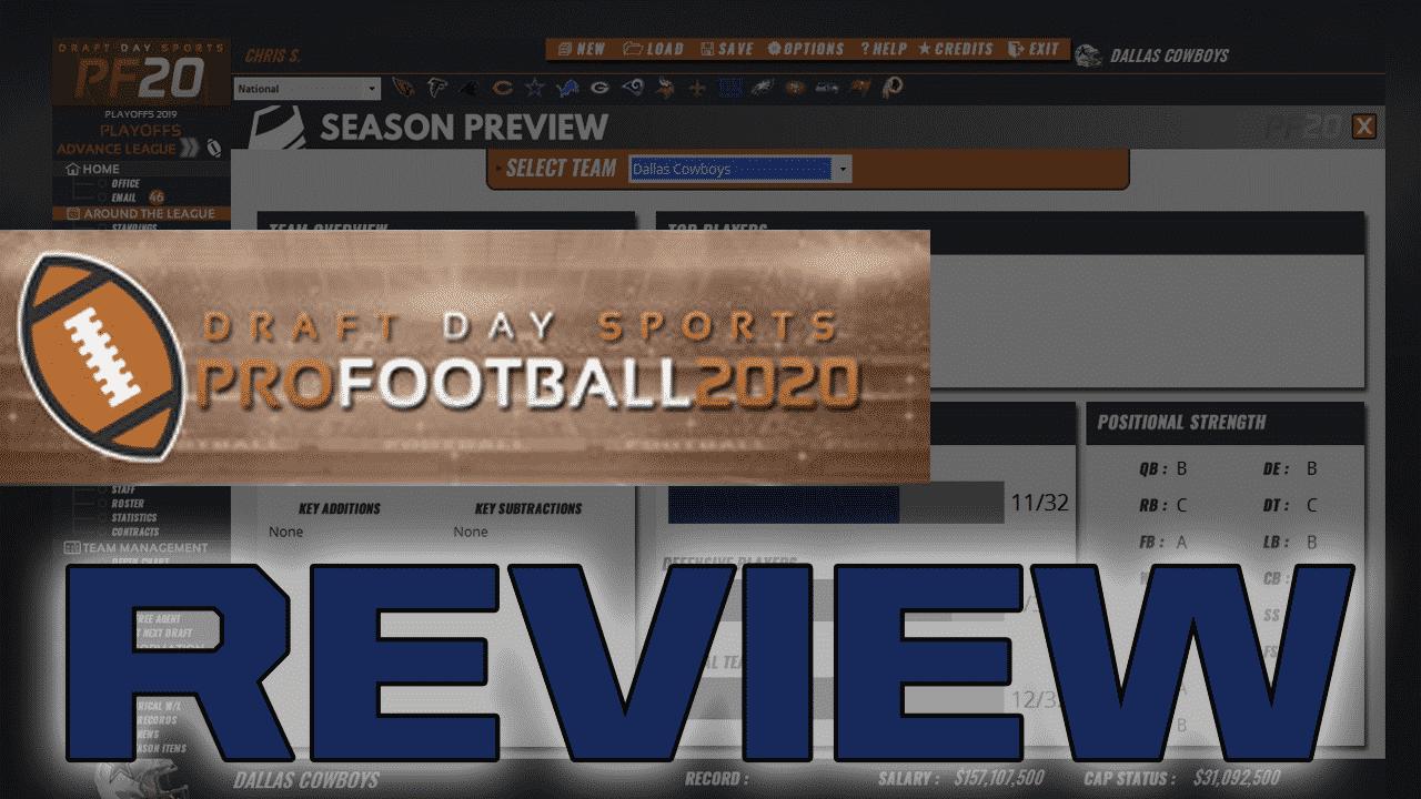 Draft Day Sports Pro Football 2020 Review Fantasy Football Logos Fantasy Football Humor Football