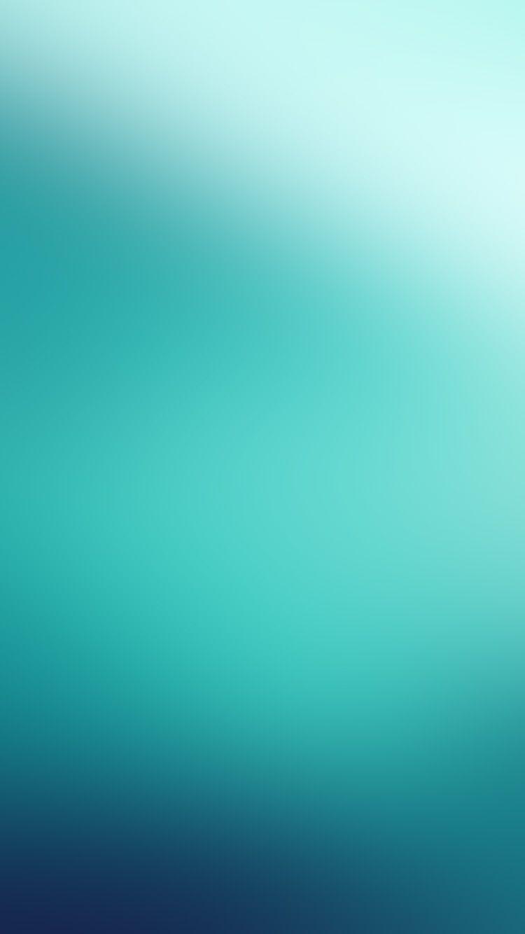 Blue Green Sea Soft Flat Gradation Blur Wallpaper Hd Iphone