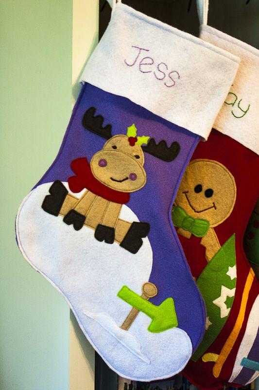 sew can cass felt christmas stockings christmas ideas pinterest weihnachten. Black Bedroom Furniture Sets. Home Design Ideas