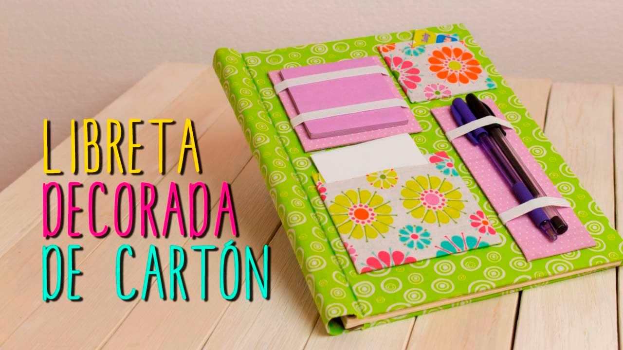 Libreta decorada decora tus libretas tipo scrapbook - Manualidades decorativas para el hogar ...