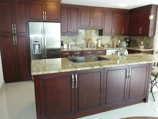 Poplar Wood Kitchen Cabinets Stained Cherry Kitchen Cabinetscontemporary Kitchen Cabinetry Cherry Brown Stain Muebles Con Palets Muebles Cocinas