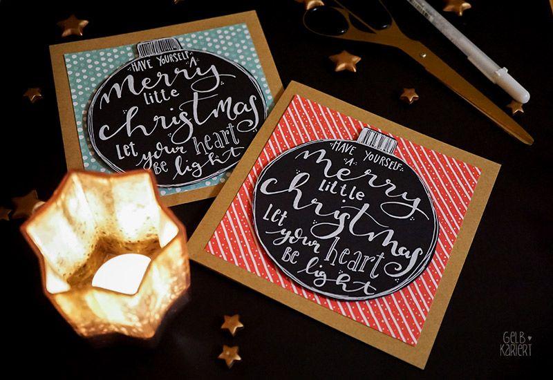 handlettering weihnachtskarten basteln my next diy. Black Bedroom Furniture Sets. Home Design Ideas