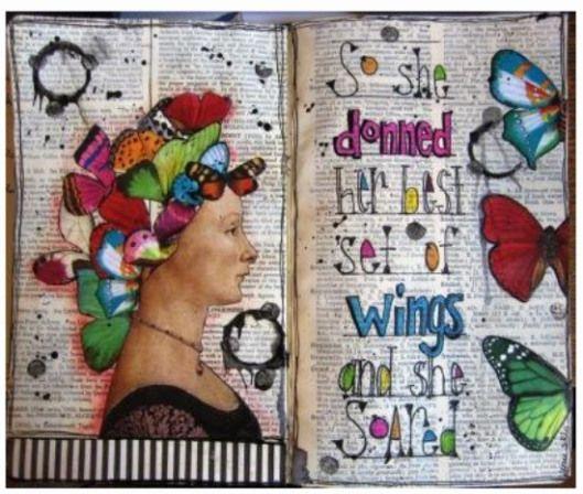 nayski  lovely art journal page