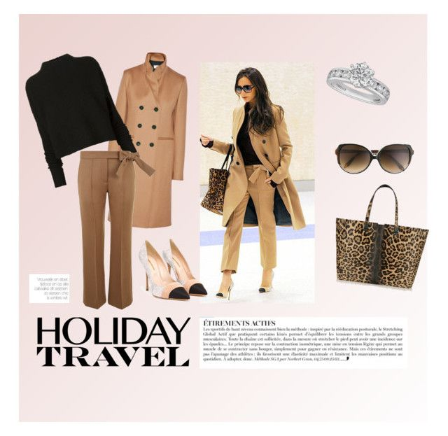 """""""Holiday travel✈️"""" by kalinkus ❤ liked on Polyvore featuring Victoria Beckham, Tiffany & Co. and Anja"""