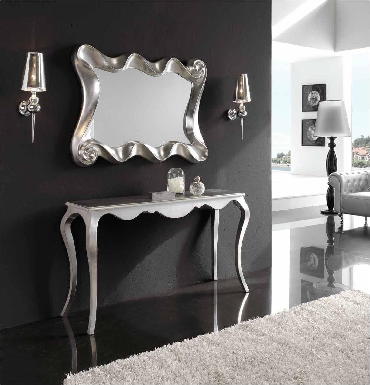 Espejo Decorativo Rectangular Acabado En Pan De Plata Se Puede  ~ Espejos Decorativos Segunda Mano