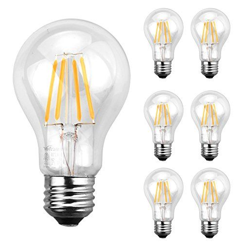 Ascher A19 E26 Led Light Bulbs 40 Watt Equivalent 4w Warm White 2700k 420lm 280 Degree Beam Angle Nondimmable Medium Screw Bas Led Light Bulbs Light Bulbs Bulb