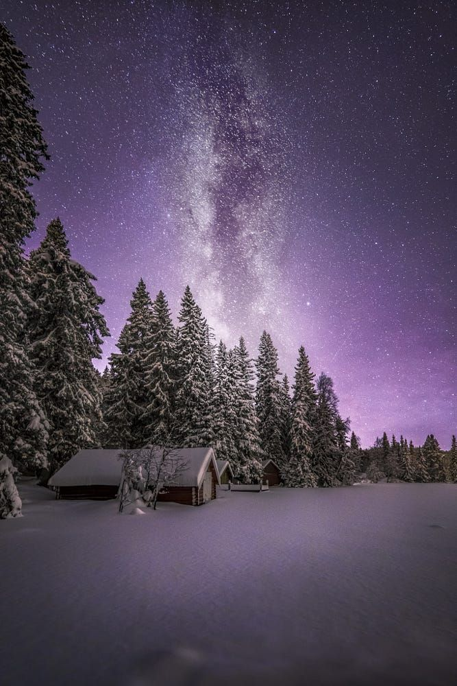 Winter Night By Ole Henrik Skjelstad On 500px Winter Landscape Night Sky Photography Winter Scenes