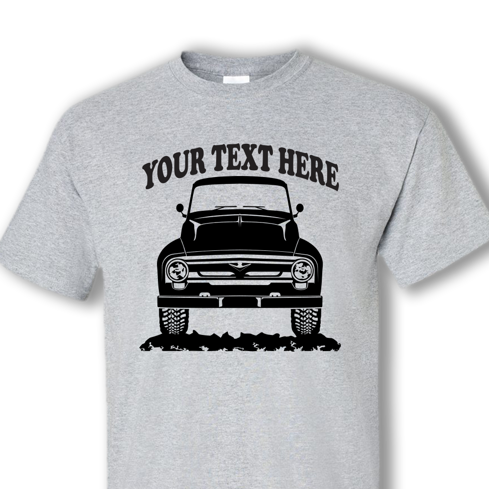 Design your own t-shirt decals - Ford F100 F150 250 Pickup Truck 1956 Personalized Cotton T Shirt