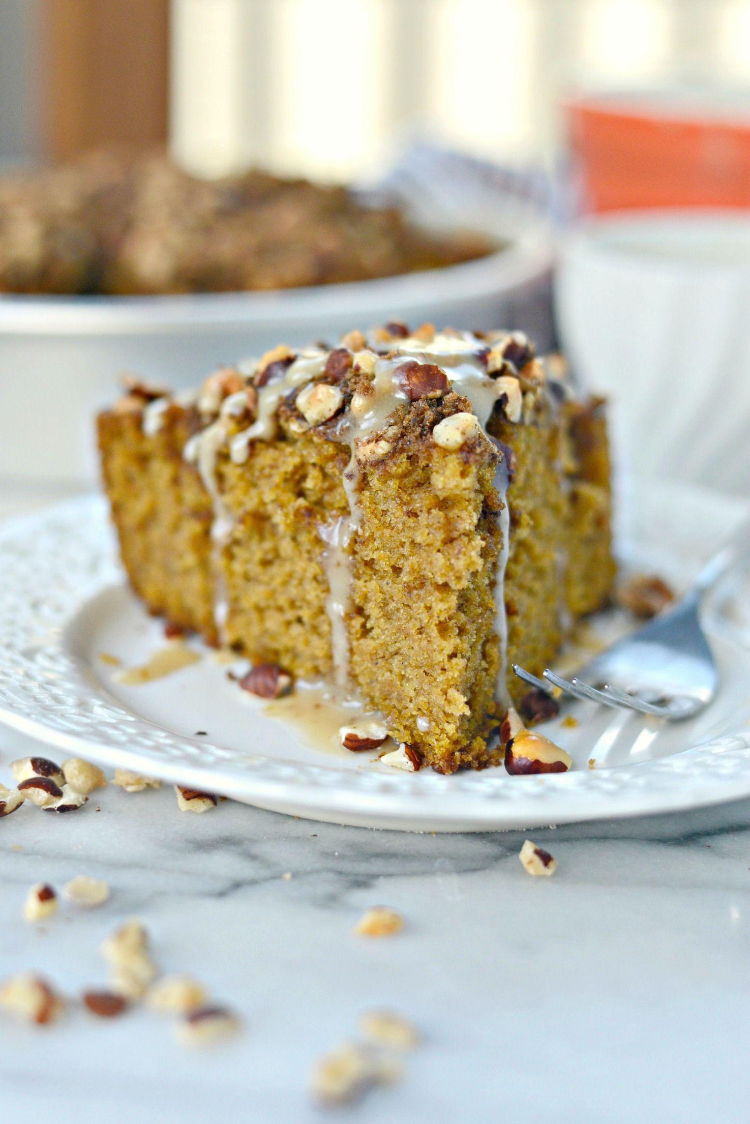 Pumpkin Coffee Cake with Hazelnut Streusel Recipe (With