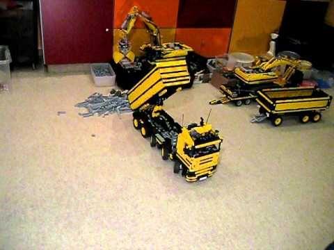 lego technic dump truck 10x4 full remote control. Black Bedroom Furniture Sets. Home Design Ideas