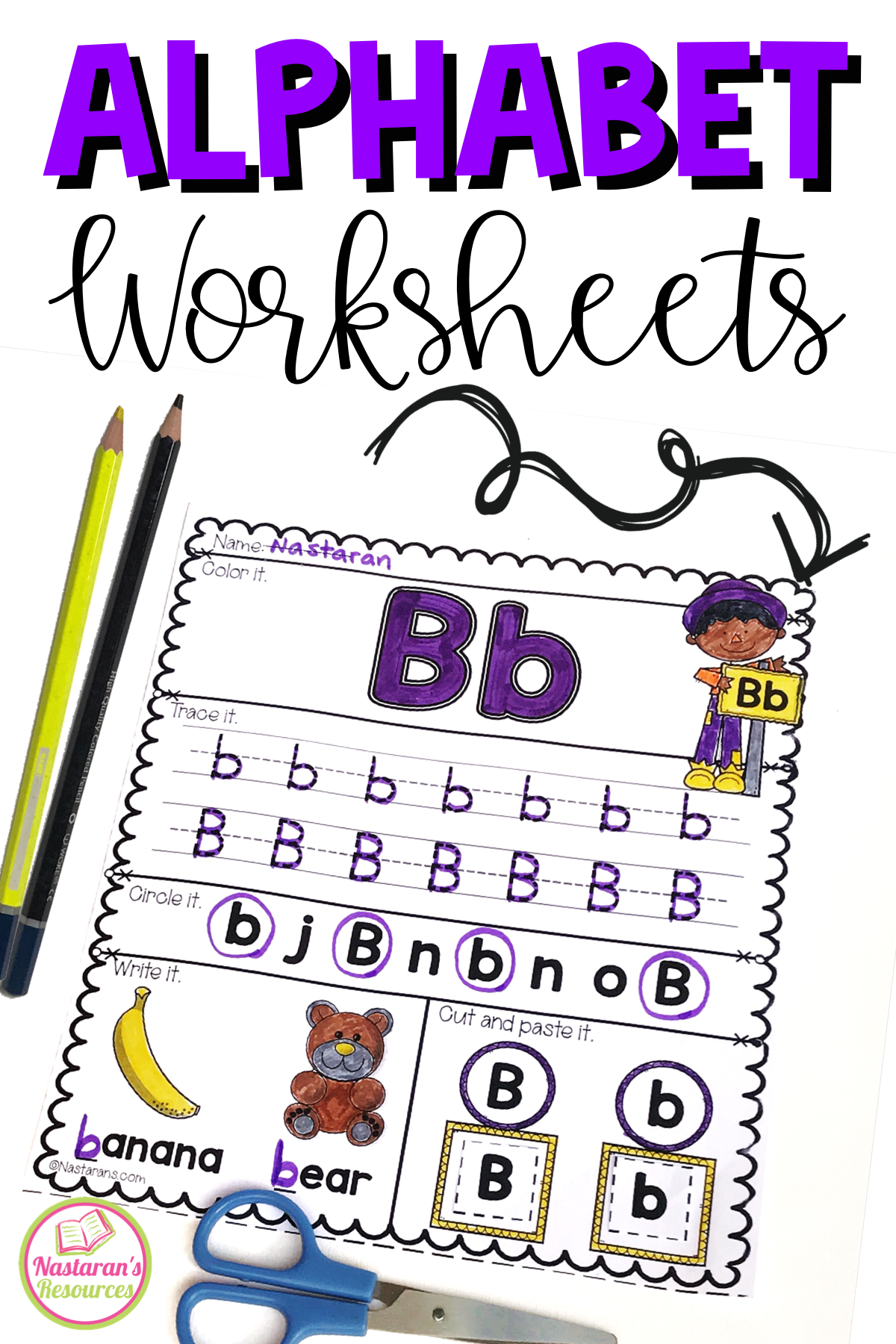 Alphabet Worksheets A Z For Kindergarten In