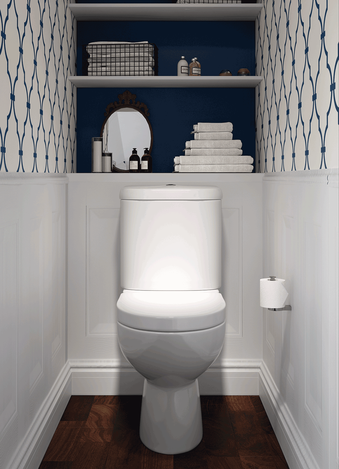 Low Cost Rest Room Household Furniture In 2020 Small Toilet Decor Small Bathroom Makeover Toilet Room Decor