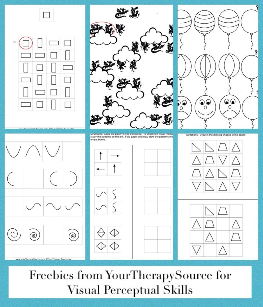 Patterns Patterns Patterns Your Therapy Source Visual Perception Activities Visual Perceptual Activities Visual Discrimination Activities [ 1030 x 880 Pixel ]