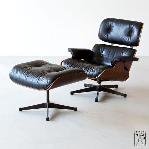 vintage eames lounge chair mit ottomane bild 1 design ottomane st hle und lounge chair. Black Bedroom Furniture Sets. Home Design Ideas