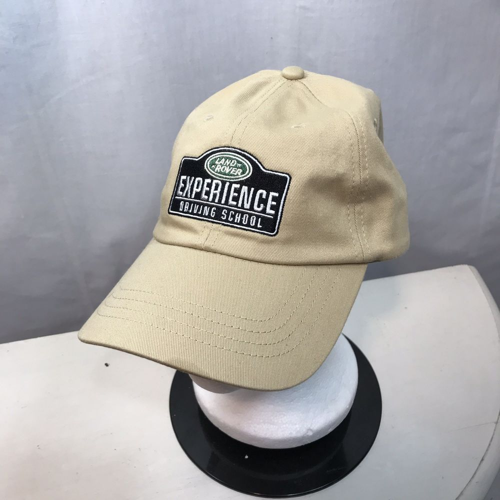 Land Rover Experience Driving School Hat Embroidered Tan Strap Back Logo Cap Landrover Baseballcap Drivingschool Hats Wearing A Hat Hats How To Wear