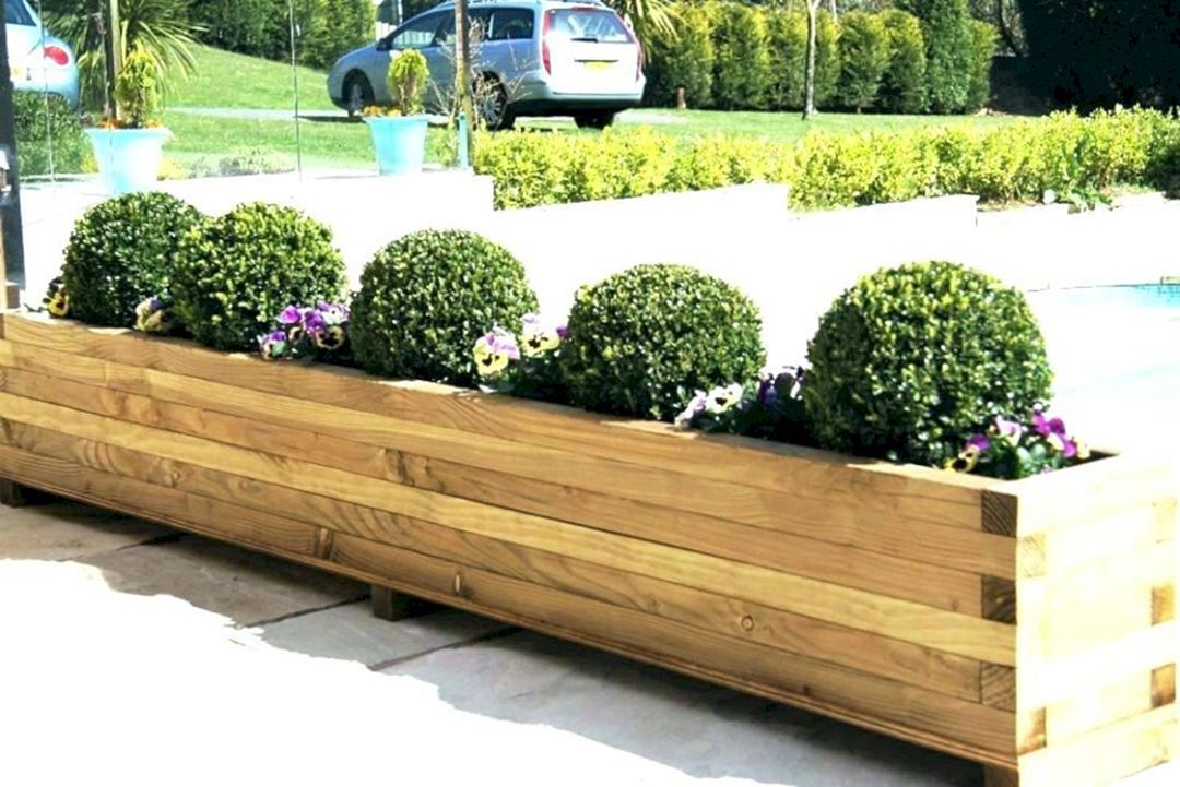 25 Amazing Home Outdoor Planter Ideas That Will Your Make Home Beauty Decor Gardening Ideas Large Garden Planters Outdoor Planters Large Outdoor Planters
