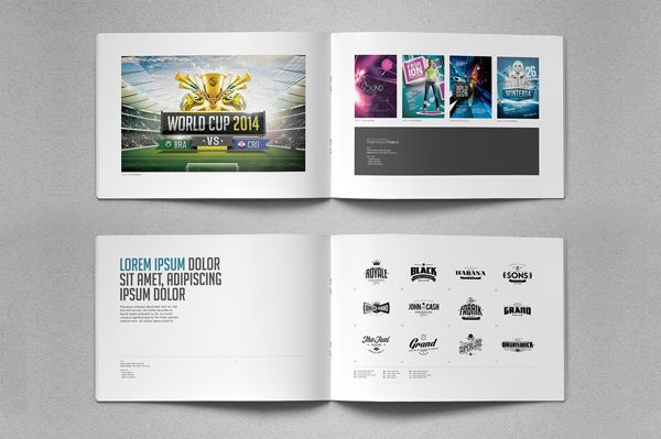 Portfolio Brochure Template Vol By Easybrandz  Via Behance