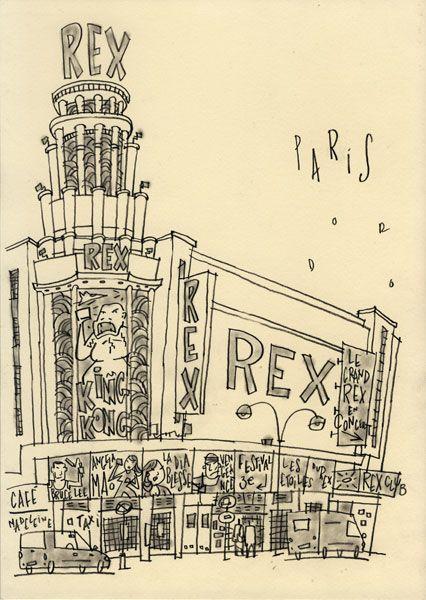 Philippe Doro : Paris, Le Grand Rex. Biggest cinema in town ...
