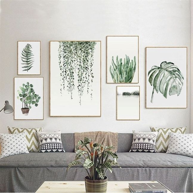 Details about Tropical Plants Leaves Canvas Vintage Poster Wall Art Prints Modern Home Decor