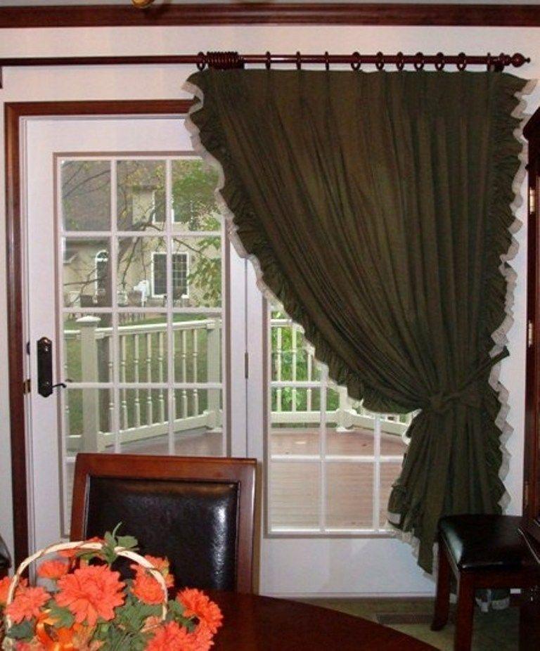 Patio Door Curtains Patio Door Ruffled Curtains Custom Style Ruffled Pleated Patio Door Curta Sliding Door Curtains Sliding Glass Door Curtains Door Curtains