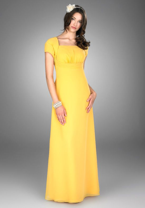 Yellow Bridesmaid Dresses With Sleeves - Missy Dress