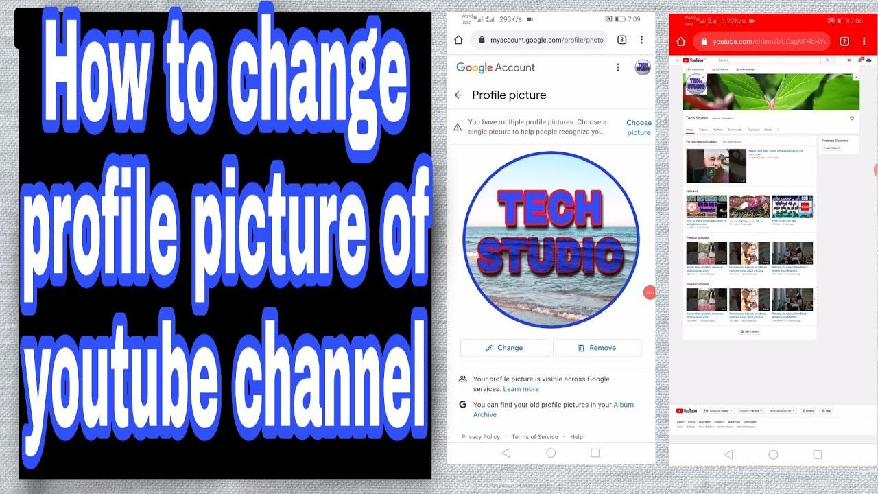 How To Change Profile Of Youtube Channel From Mobile Youtube Channel Profile Picture
