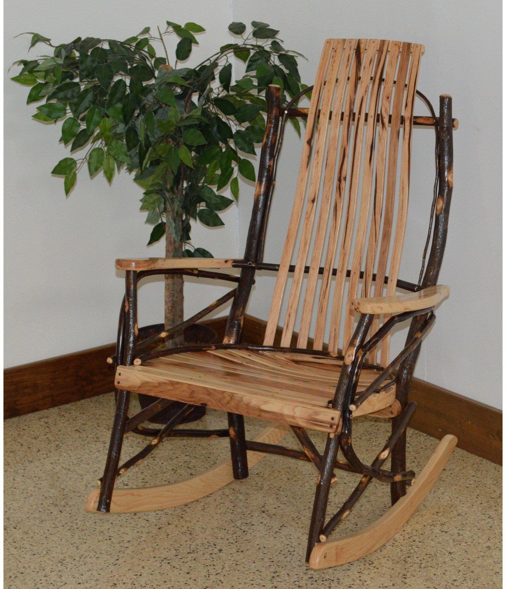A & L Furniture Co. Amish Bentwood Rustic Hickory 9Slat
