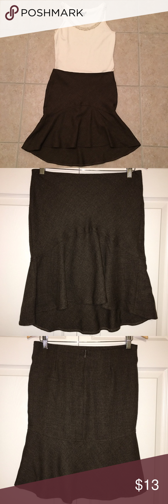 """PRETTY PREPPY SKIRT 💋NWOT 💋An absolute gorgeous preppy, ruffled skirt that reminds me of Britney Spears's """"...Baby One More Time"""" music video. 💋Length of skirt: * Front is 18""""  * Back is 21"""" 💋Hidden zipper in the back. 💋100% polyester 💄Blouse isn't included💄 🎀FIRM PRICE🎀 🎀BUNDLE OPTION🎀 🎀NO TRADES🎀 Skirts High Low"""