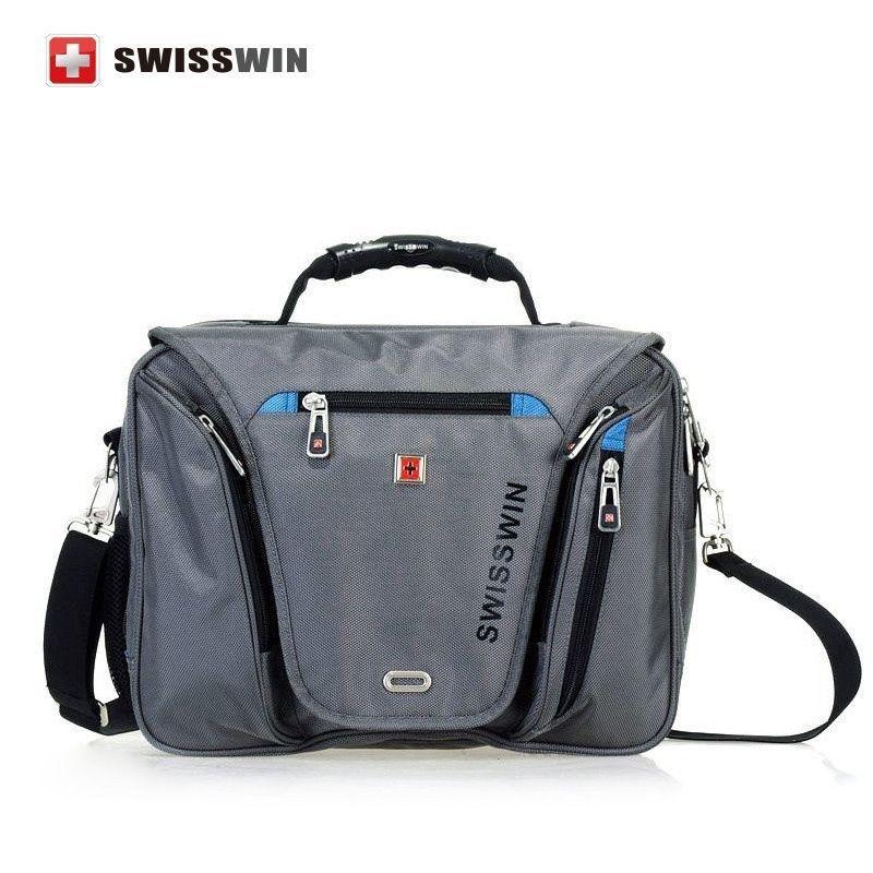 0ad7fdf10a Unisex Swisswin laptop Briefcase Waterproof 15   laptop Bag  Multi-functional Sch