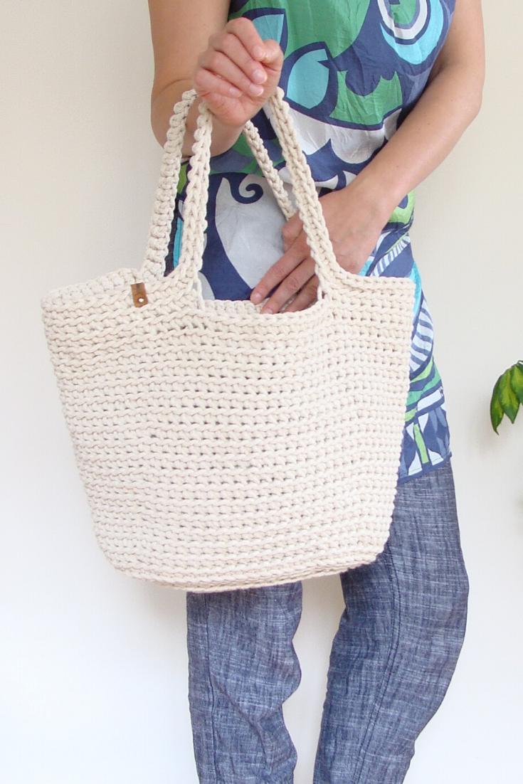 vintage crocheted purse Women beach multicolored shoulder bag