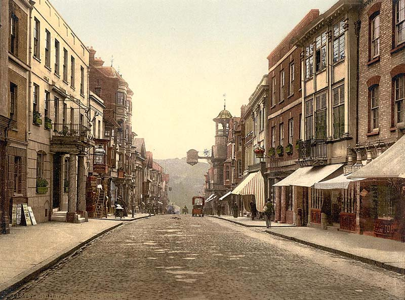Surrey Guildford Uk High Street In The 1890 S Guildford England Exeter England Guildford