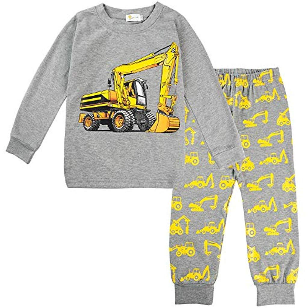 Boys Pajamas Set Cotton Pjs Dinosaur Short Sleepwear Children Clothes 2 Piece