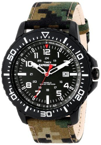 6b65018f0 Timex Mens T49965 Expedition Uplander Watch with Camo Nylon Band ...