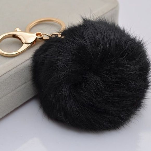 Bags - Genuine Rabbit Fur Puff Ball Keychain  290438d709768