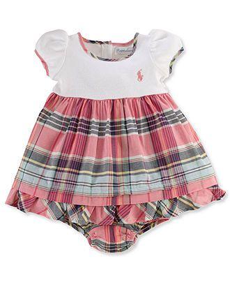 de553f051b Ralph Lauren Baby Dress, Baby Girls Madras Dress - Kids Baby Girl (0 ...