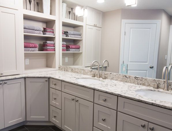 Cliqstudios Painted Urban Stone Kitchen Cabinets In The Dayton Style Bathroom Vanity Cabinets