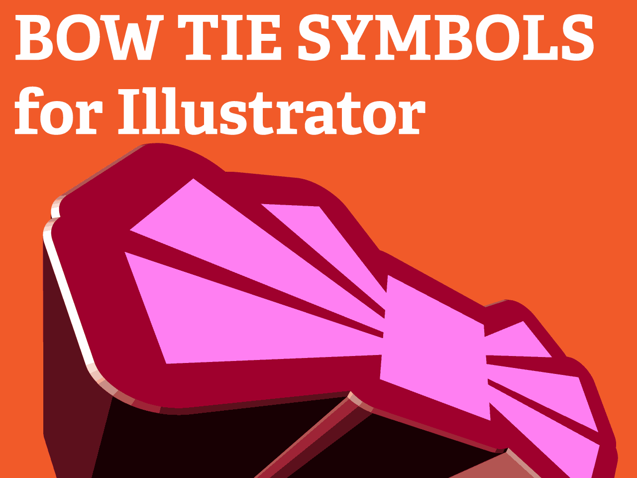 Bow Tie Symbols For Illustrator Vector Shapes 3d Curved Extruded
