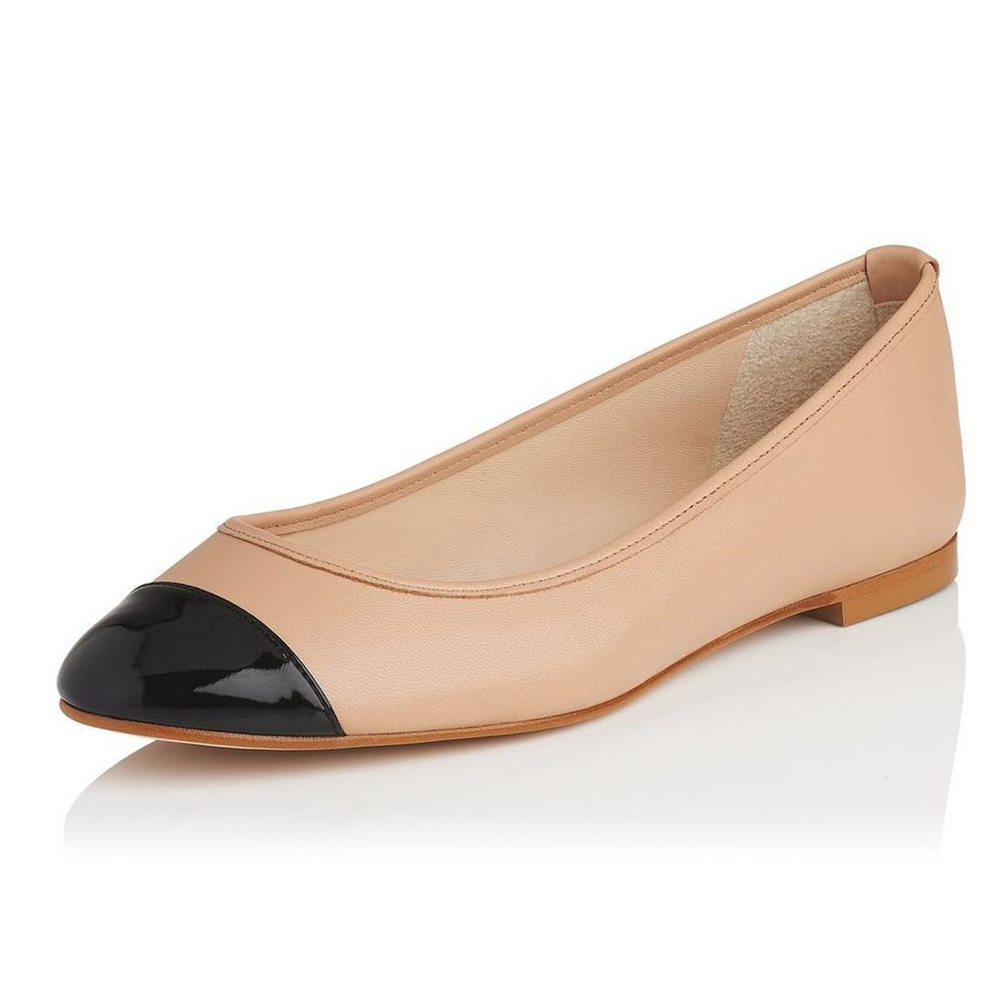Leather upper round toe women casual flat shoes ladies daily dress shoes 475168881ac3