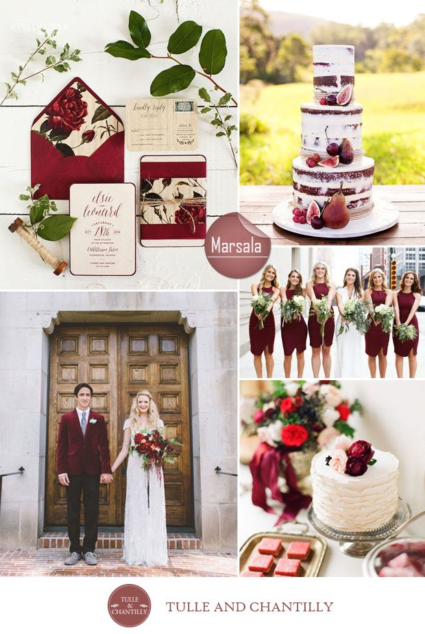 Top 10 pantone inspired fall wedding colors 2015 autumn weddings marsala nude wedding color inspiration ideas for rustic autumn weddings junglespirit Images