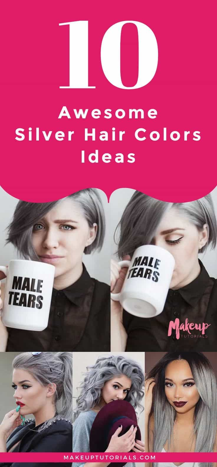 Awesome Silver Hair Colors Ideas  Silver hair Hair coloring and