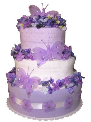 Image result for purple butterfly cake