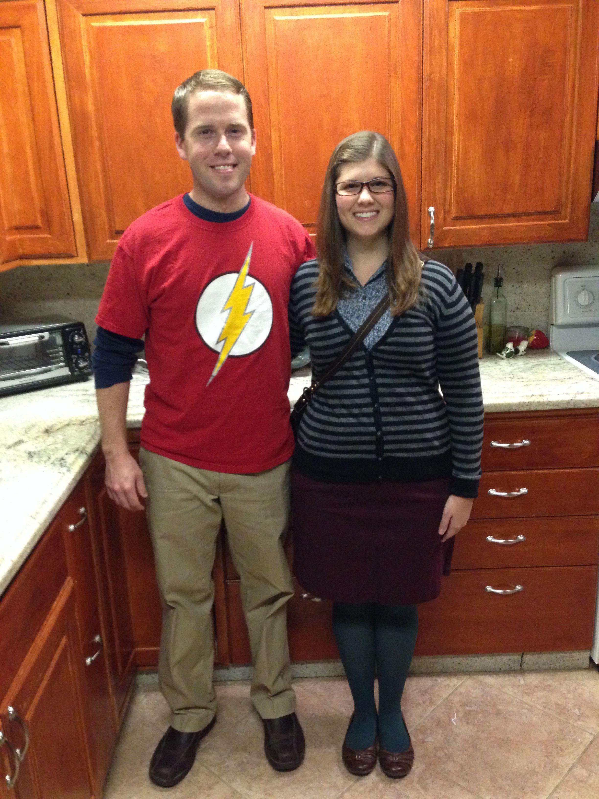 Sheldon and Amy Halloween Couples Costume #BigBangTheory