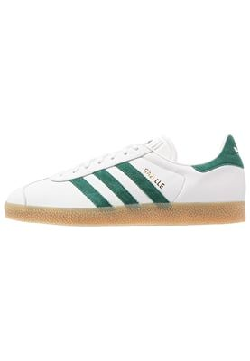 GAZELLE - Sneaker low - vintage white/collegiate green ...