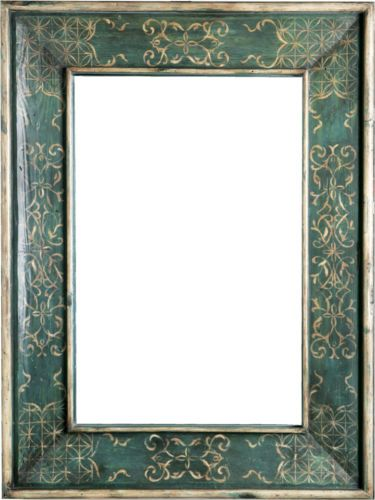 Large Custom Floor Wall Mirror Hand Painted Decorative Frame ...